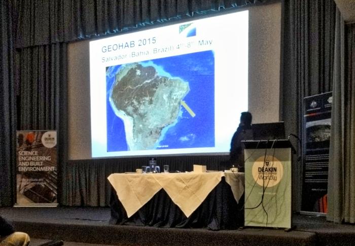 Reunião do GeoHab2014 em Lorne, Austrália